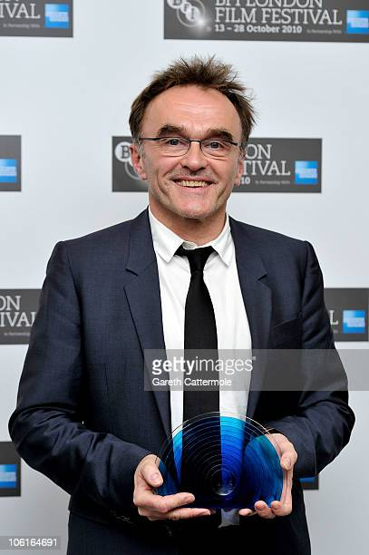Director Danny Boyle poses with the BFI Fellowship during the 54th BFI London Film Festival Awards at LSO St Lukes on October 27 2010 in London...