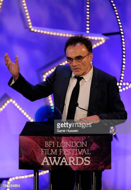 Director Danny Boyle receives the BFI Fellowship at the ceremony for the 54th BFI London Film Festival Awards at LSO St Lukes on October 27 2010 in...