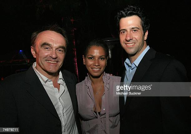 Director Danny Boyle Simone Bent and actor Troy Garity attend the after party for the closing night screening of Sunshine at the Los Angeles Film...