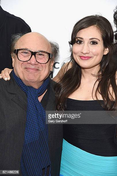 Director Danny DeVito and actress/producer Lucy DeVito of the film Curmudgeons attend the Shorts Program New York Now during the 2016 Tribeca Film...