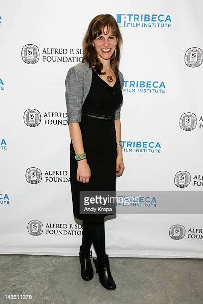 Director Dara Bratt attends the Sloan WIP Readings & Cocktails during the 2012 Tribeca Film Festival at the Green Space on April 23, 2012 in New York...