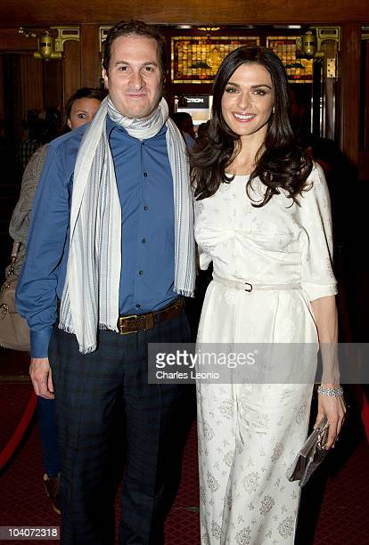 Director Darren Aronofsky and actress Rachel Weisz attend 'The Whistleblower' Premiere held at The Elgin during the 35th Toronto International Film...