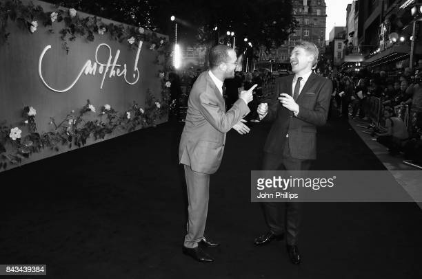 Director Darren Aronofsky and Domhnall Gleeson attend the UK Premiere of 'mother' at the Odeon Leicester Square on September 6 2017 in London England