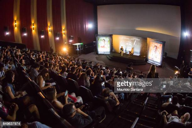 Director Darren Aronofsky attends the 'mother' photo call and press conference at Cinemark Eldorado onSeptember 19 2017 in Sao Paulo Brazil