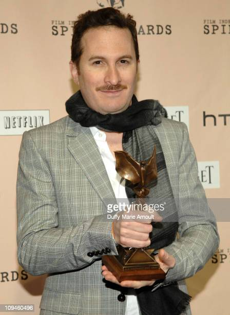 Director Darren Aronofsky poses in the press room during the 2011 Film Independent Spirit Awards at Santa Monica Beach on February 26 2011 in Santa...