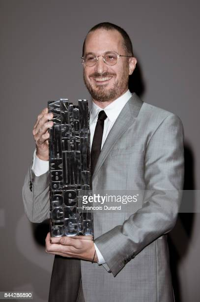 Director Darren Aronofsky receives a tribute in advance of the screening for 'mother' during the 43rd Deauville American Film Festival on September 8...