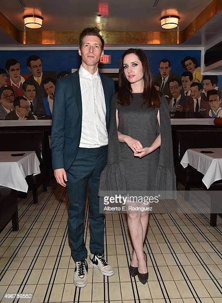 Director Daryl Wein and actress Zoe ListerJones attend the after party for the Los Angeles premiere of Mister Lister Films' Consumed at Laemmle Music...