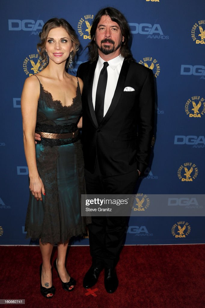 Director Dave Grohl (R) and Jordyn Blum Grohl attend the 65th Annual Directors Guild Of America Awards at The Ray Dolby Ballroom at Hollywood & Highland Center on February 2, 2013 in Hollywood, California.