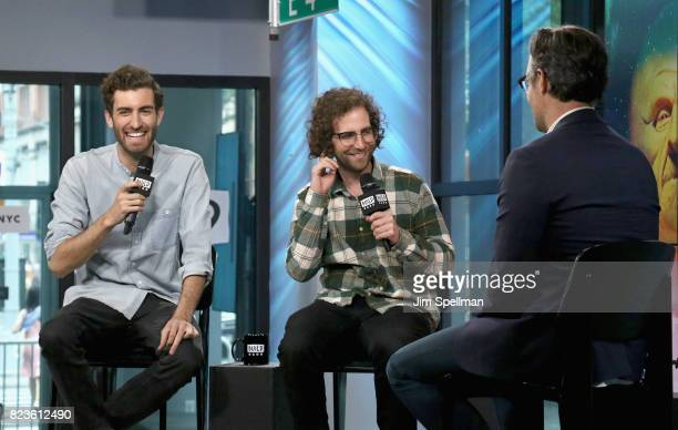 Director Dave McCary actor/writer Kyle Mooney and host Ricky Camilleri attend Build to discuss the new movie Brigsby Bear at Build Studio on July 27...
