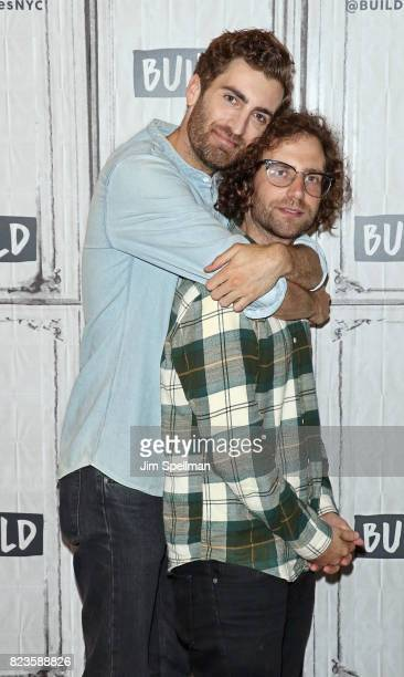 Director Dave McCary and actor/writer Kyle Mooney attend Build to discuss the new movie Brigsby Bear at Build Studio on July 27 2017 in New York City