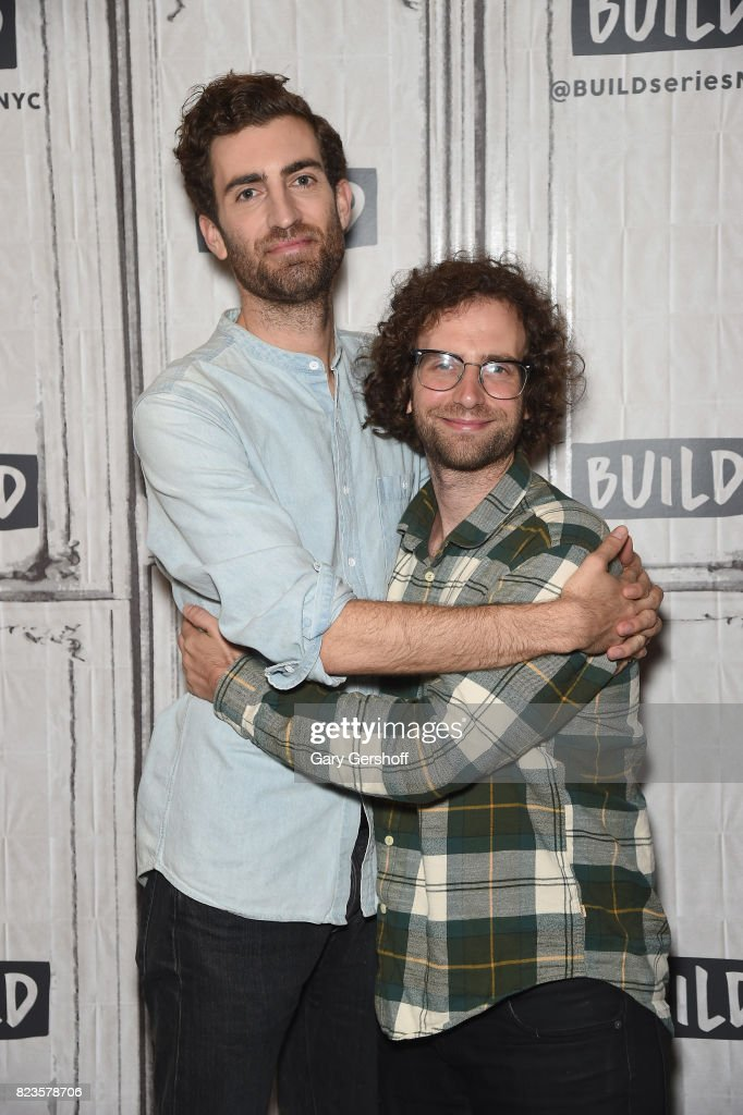 Director Dave McCary (L) and actor/writer Kyle Mooney visit Build Series to discuss the new film 'Brigsby Bear' at Build Studio on July 27, 2017 in New York City.