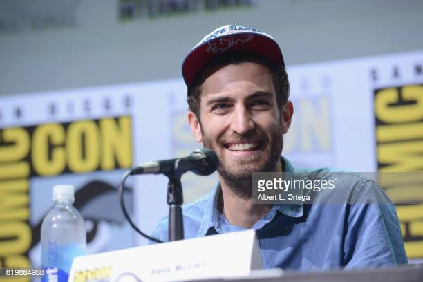 """Director Dave McCary speaks onstage at the """"Brigsby Bear"""" cast and filmmakers panel during Comic-Con International 2017 at San Diego Convention..."""