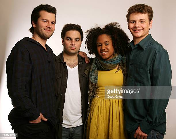 Director David Andalman producer Athas Ioannou actress Keziah Niambi JohnPaul and actor Brandon Thane Wilson of the film Takoma Park pose for a...