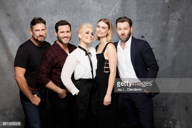 Director David Ayer actor Edgar Ramirez actress Noomi Rapace actress Lucy Fry and actor Joel Edgerton from the film 'Bight' are photographed in the...