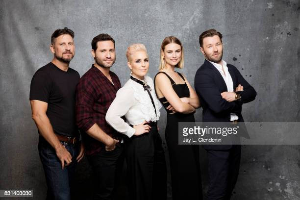 Director David Ayer actor Edgar Ramirez actress Noomi Rapace actress Lucy Fry and actor Joel Edgerton from the film Bight are photographed in the LA...