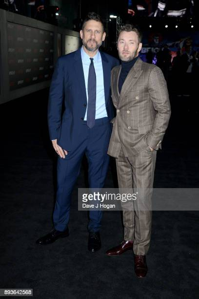 Director David Ayer and Joel Edgerton attend the European Premiere of 'Bright' held at BFI Southbank on December 15 2017 in London England
