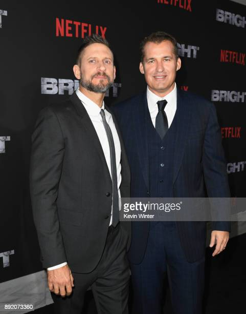 Director David Ayer and Scott Stuber attend the Premiere Of Netflix's 'Bright' at Regency Village Theatre on December 13 2017 in Westwood California