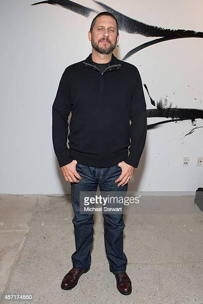 Director David Ayer attends AOL's BUILD Series Presents: Logan Lerman and Jon Bernthal with director David Ayer at AOL Studios In New York on October...