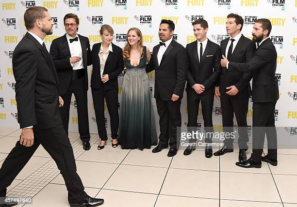 Director David Ayer Brad Pitt Anamaria Marinca Alicia von Rittberg Michael Pena Logan Lerman Jon Bernthal and Shia LeBeouf attend the closing night...