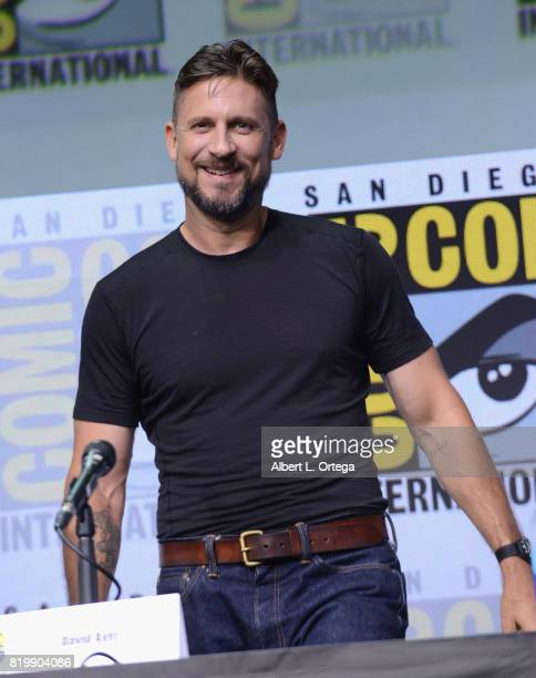 """Director David Ayer speaks onstage at Netflix Films: """"Bright"""" and """"Death Note"""" panel during Comic-Con International 2017 at San Diego Convention..."""