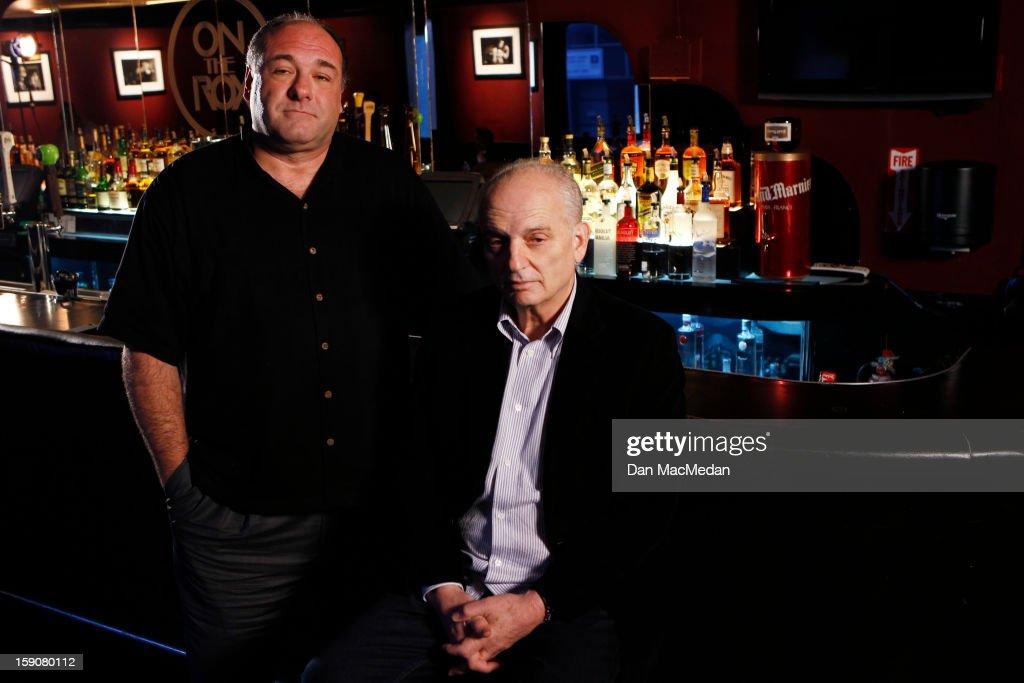 David Chase and James Gandolfini, USA Today, December 20, 2012