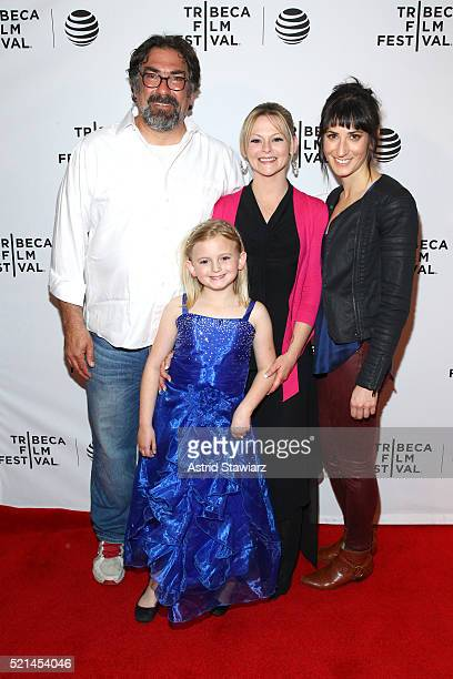 Director David Feige Ashlynn Harrell Shawna Marie Harrell and Rebecca Richman Cohen attend Untouchable Premiere 2016 Tribeca Film Festival at Chelsea...