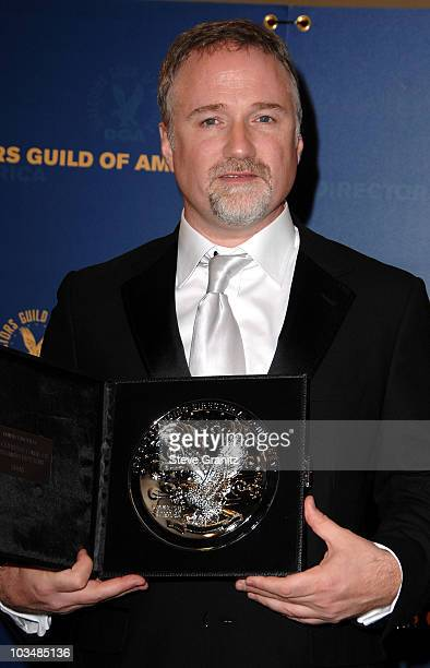 Director David Fincher poses in the press room at the 61st Annual DGA Awards at the Hyatt Regency Century Plaza on January 31 2009 in Los Angeles...