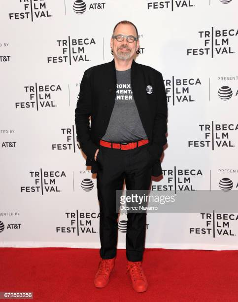 Director David France attends 2017 Tribeca Film Festival 'The Death And Life Of Marsha P Johnson' at Cinepolis Chelsea on April 21 2017 in New York...