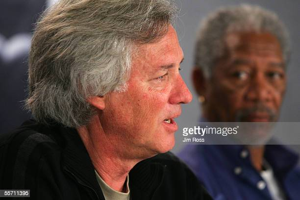 Director David J Burke answers questions at the press conference of the new movie Edison on September 17 2005 in Toronto Canada