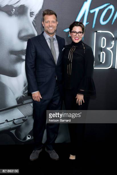 Director David Leitch and producer Kelly McCormick attend Focus Features' Atomic Blonde premiere at The Theatre at Ace Hotel on July 24 2017 in Los...