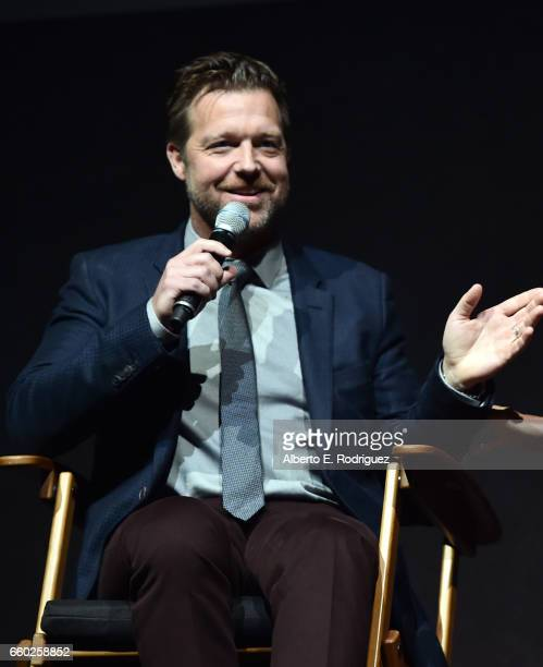 Director David Leitch speaks onstage at CinemaCon 2017 Universal Pictures Invites You to a Special Presentation Featuring Footage from its Upcoming...