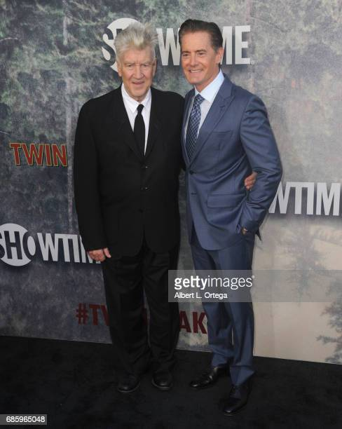 Director David Lynch and actor Kyle MacLachlan arrive for the Premiere Of Showtime's 'Twin Peaks' held at Ace Hotel on May 19 2017 in Los Angeles...