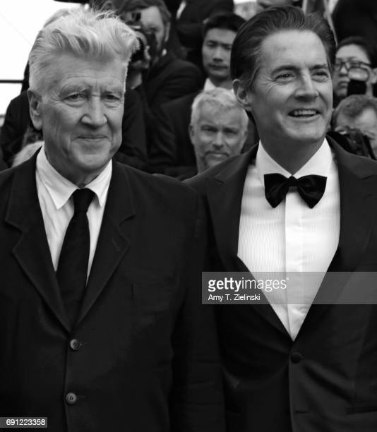 Director David Lynch and actor Kyle MacLachlan attend the 'Twin Peaks' screening during the 70th annual Cannes Film Festival at Palais des Festivals...