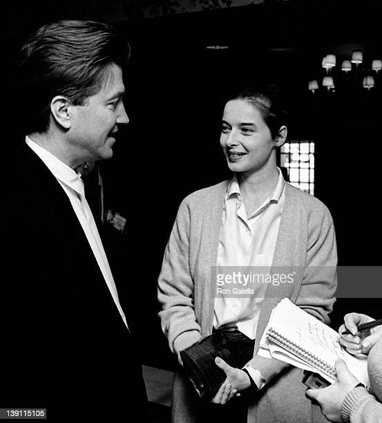 Director David Lynch and actress Isabella Rossellini attend Kennedy Center Honorees Brunch on December 6, 1987 at Ritz Carlton Hotel in Washington,...