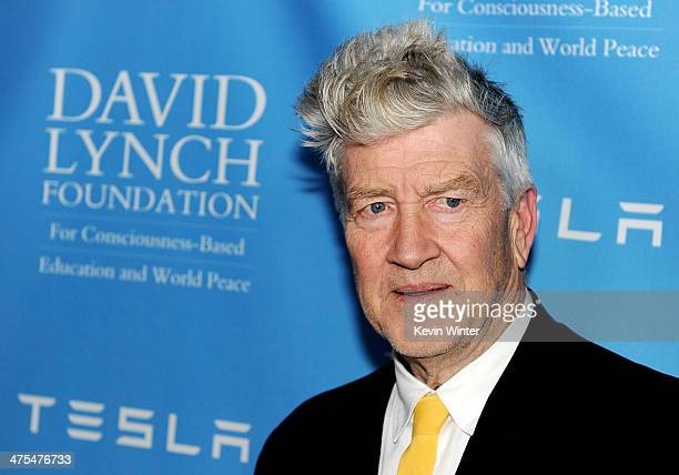 Director David Lynch arrives at the David Lynch Foundation Gala Honoring Rick Rubin at the Beverly Wilshire Hotel on February 27 2014 in Beverly...
