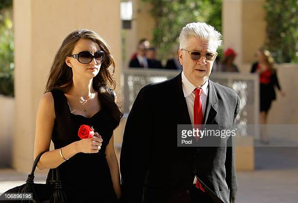 Director David Lynch arrives for the funeral Mass for Italian film mogul and Hollywood producer Dino De Laurentiis at the Cathedral of Our Lady of...