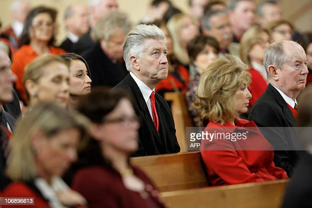 Director David Lynch attends the funeral for Italianborn film producer Dino De Laurentiis at the Cathedral of Our Lady of the Angels on November 14...