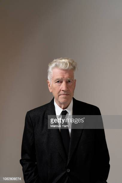 Director David Lynch is photographed for Los Angeles Times on September 7, 2018 at the Kayne Griffin Corcoran Gallery in Los Angeles, California....
