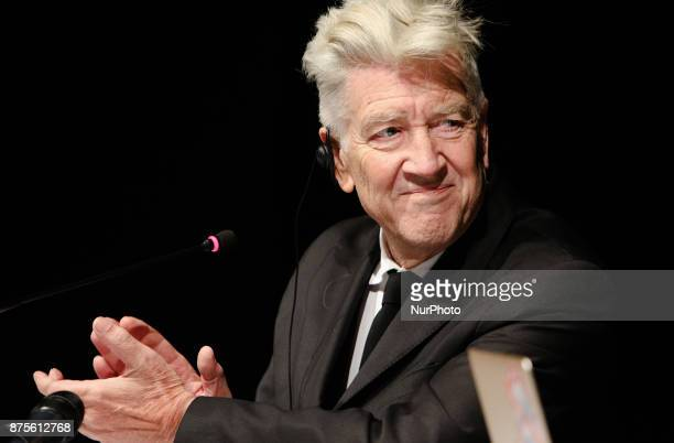US director David Lynch is seen at his pressconference in Kyiv Ukraine Friday Nov 17 2017 Lynch announced the launch of his charity David Lynch...