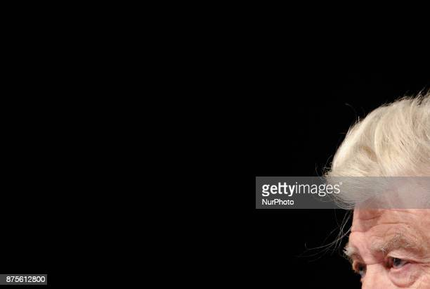 US director David Lynch is seen at the pressconference in Kyiv Ukraine Friday Nov 17 2017 Lynch announced the launch of his charity David Lynch...