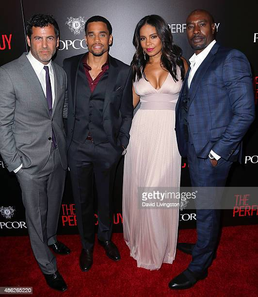 Director David M Rosenthal and actors Michael Ealy Sanaa Lathan and Morris Chestnut attend the premiere of Screen Gems' 'The Perfect Guy' at the WGA...