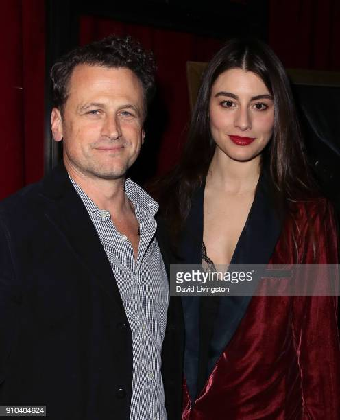 Director David Moscow and actress Dominik GarciaLorido attend the premiere of Parade Deck Films' Desolation at Ahrya Fine Arts Theater on January 25...