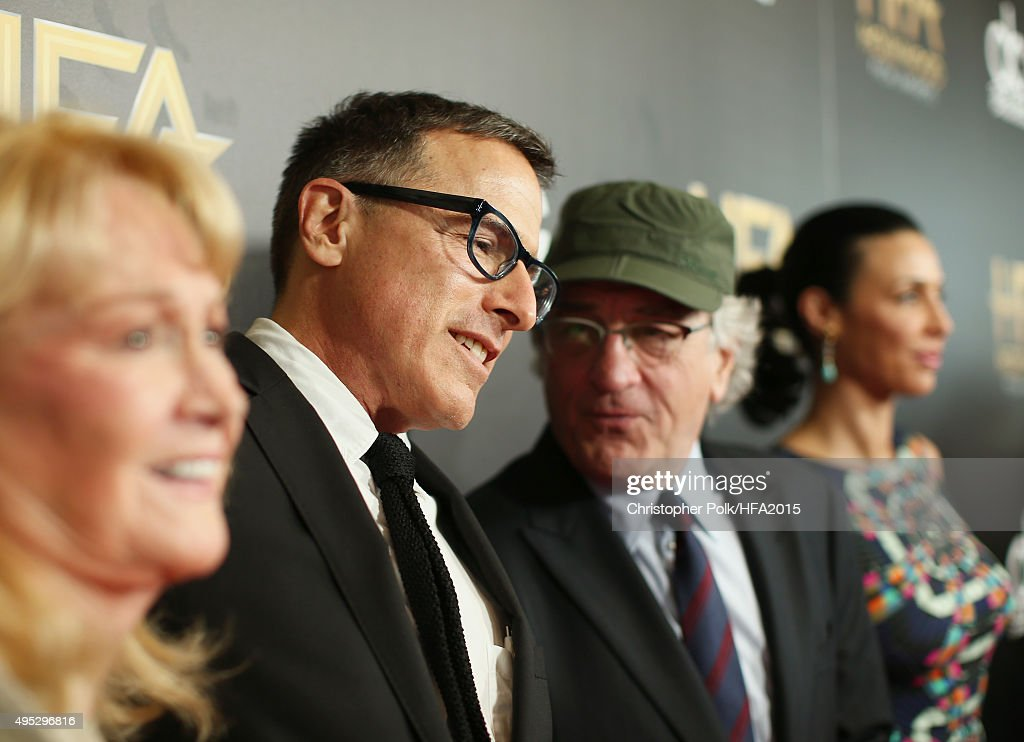 Director David O. Russell, actors Robert De Niro and Drena De Niro attend the 19th Annual Hollywood Film Awards at The Beverly Hilton Hotel on November 1, 2015 in Beverly Hills, California.