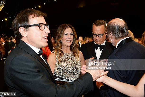 Director David O Russell actress Rita Wilson and actor Tom Hanks attend the 20th Annual Screen Actors Guild Awards at The Shrine Auditorium on...