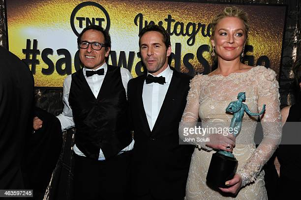 Director David O Russell Alessandro Nivola and Elisabeth Rohm attend the 20th Annual Screen Actors Guild Awards at The Shrine Auditorium on January...