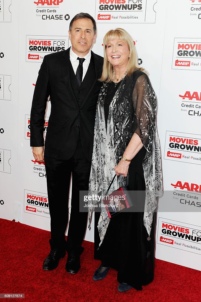 Director David O. Russell (L) and actress Diane Ladd attend AARP's 15th Annual Movies For Grownups Awards at the Beverly Wilshire Four Seasons Hotel on February 8, 2016 in Beverly Hills, California.