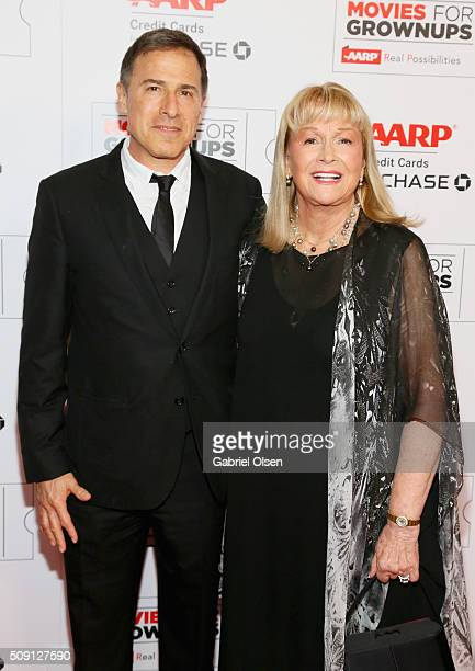Director David O Russell and actress Diane Ladd attend AARP's Movie For GrownUps Awards at the Beverly Wilshire Four Seasons Hotel on February 8 2016...
