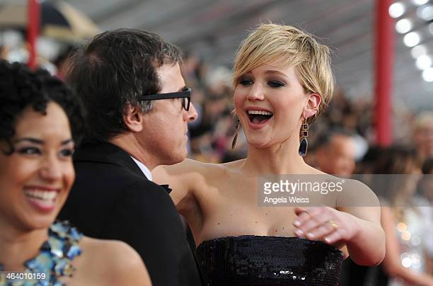 Director David O. Russell and actress Jennifer Lawrence attend the 20th Annual Screen Actors Guild Awards at The Shrine Auditorium on January 18,...