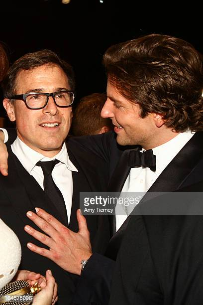 Director David O Russell and Bradley Cooper attend the 19th Annual Screen Actors Guild Awards at The Shrine Auditorium on January 27 2013 in Los...