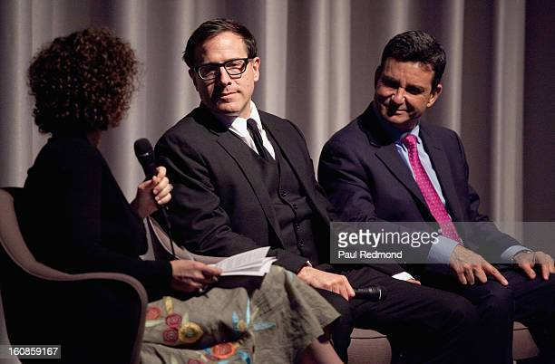 Director David O Russell and Dr Bruce Hensel speak at the Museum Of Tolerance Town Hall Meeting With Silver Linings Playbook Director David O Russell...